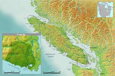 T'Sou-ke Nation Map